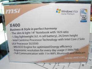 msi-x400-specs