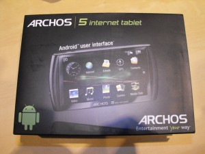 Archos 5 Internet Tablet with Android - Front