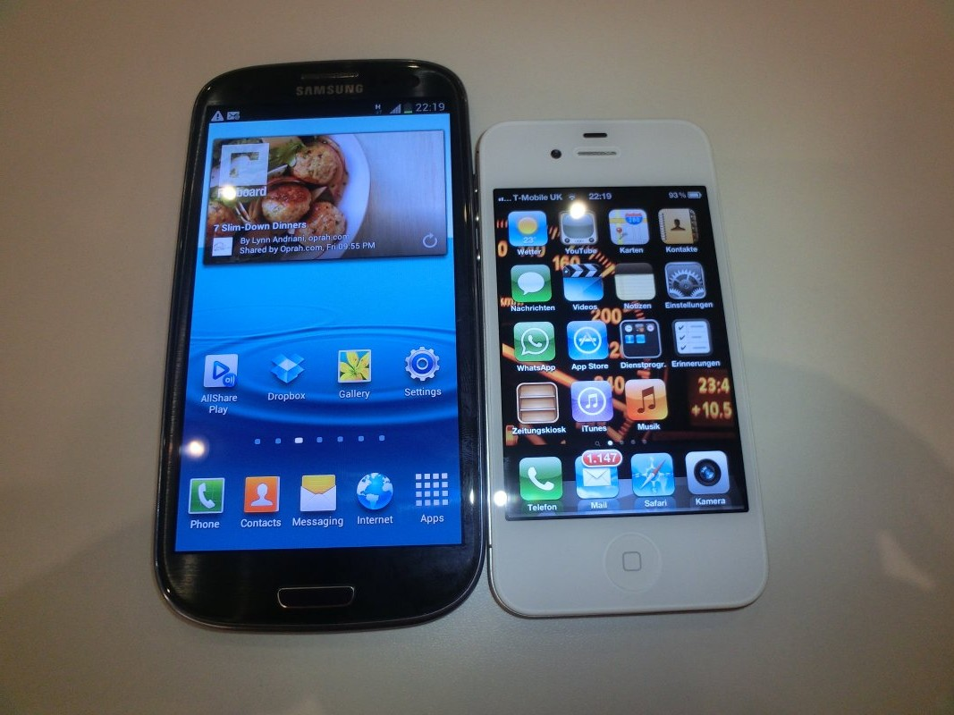 galaxy vs iphone bilder samsung galaxy s3 vs apple iphone 4s newgadgets de 2208