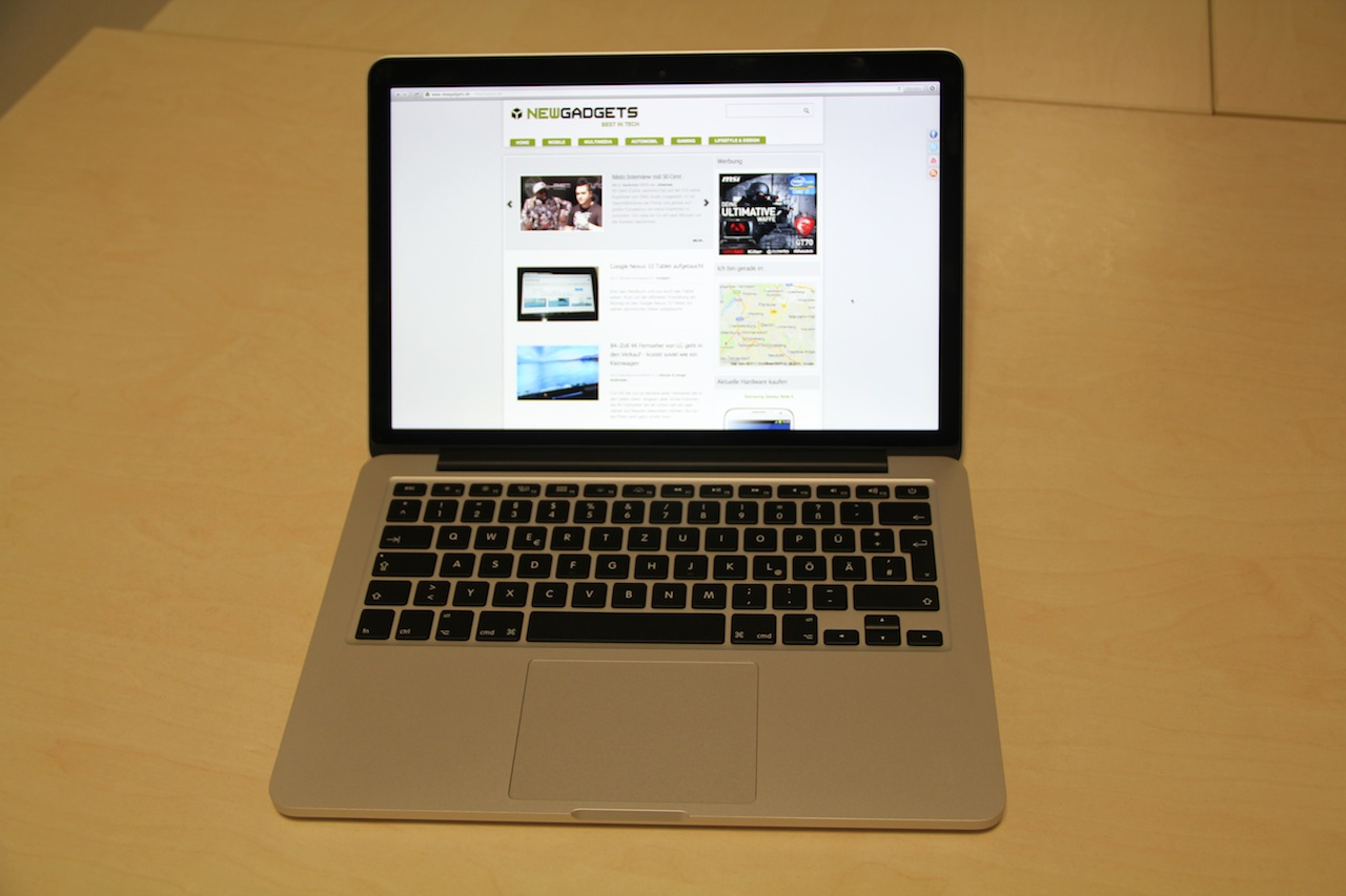hands on bilder vom 13 zoll macbook pro retina. Black Bedroom Furniture Sets. Home Design Ideas