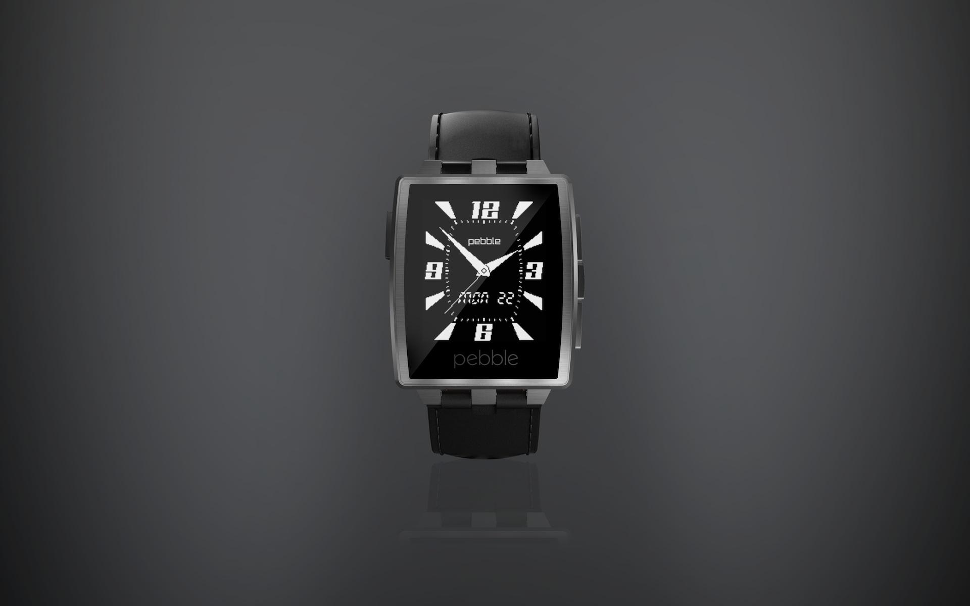 Pebble Steel Smartwatch mit Metallarmband vorgestellt ...