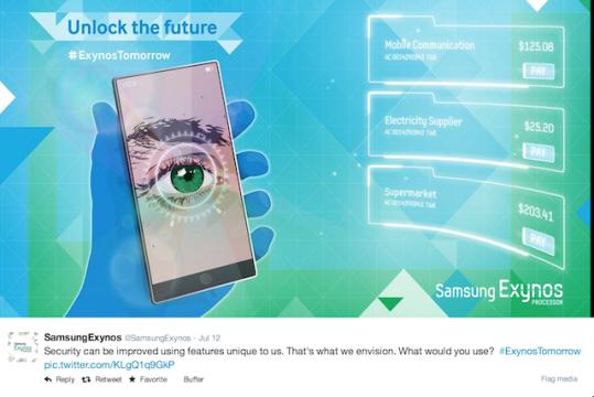 Samsung Exynos tweet