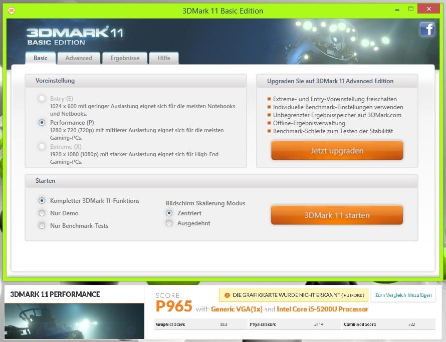 Acer Revo One - 3D Mark 2011