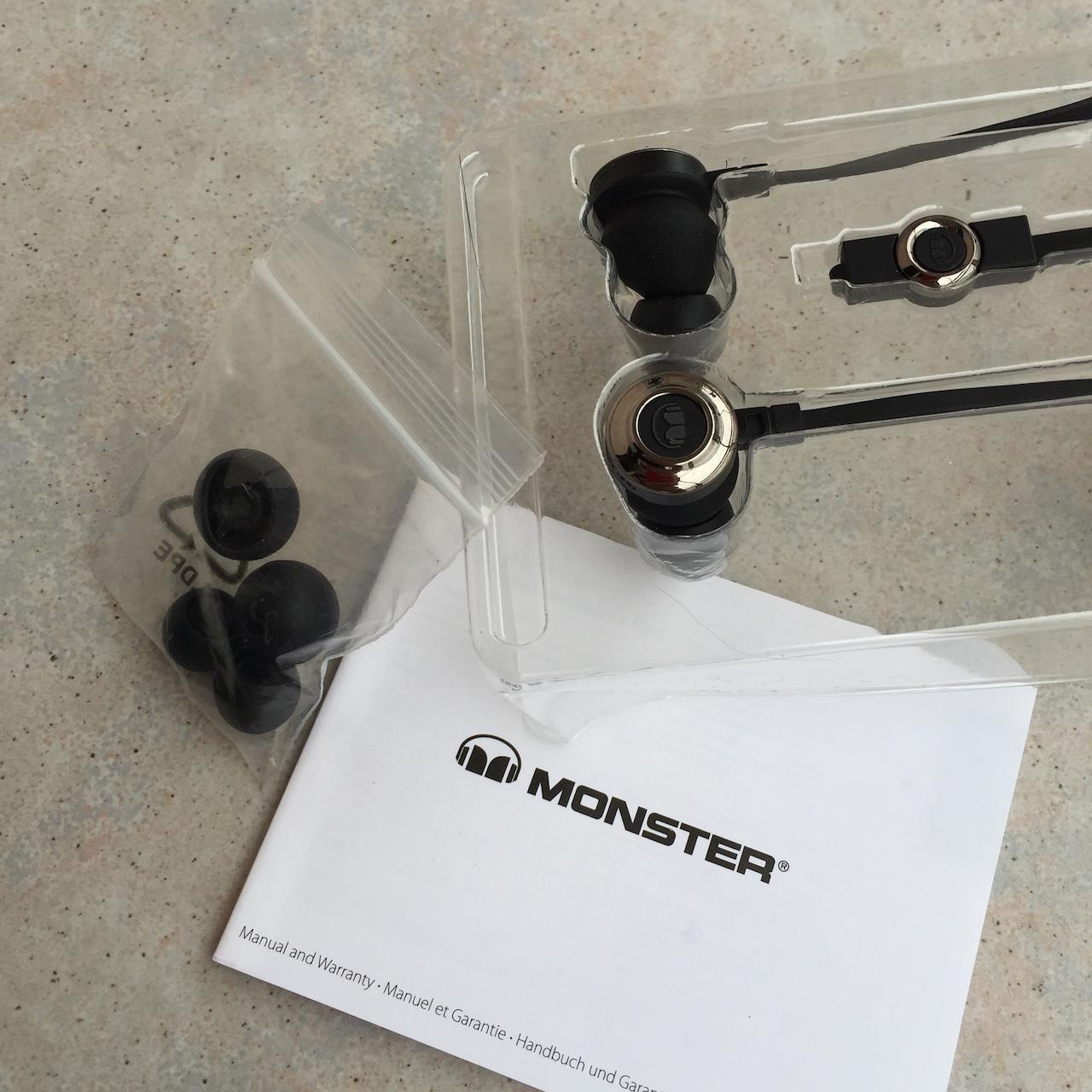 Monster ClarityHD In-Ear - Lieferumfang