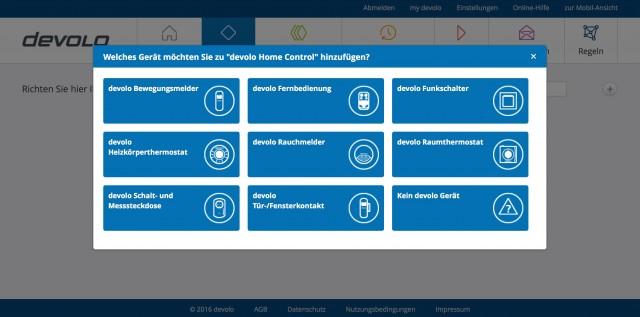 devolo Home Control GUI - 1