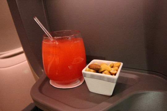 SIA Business Class Appetizer