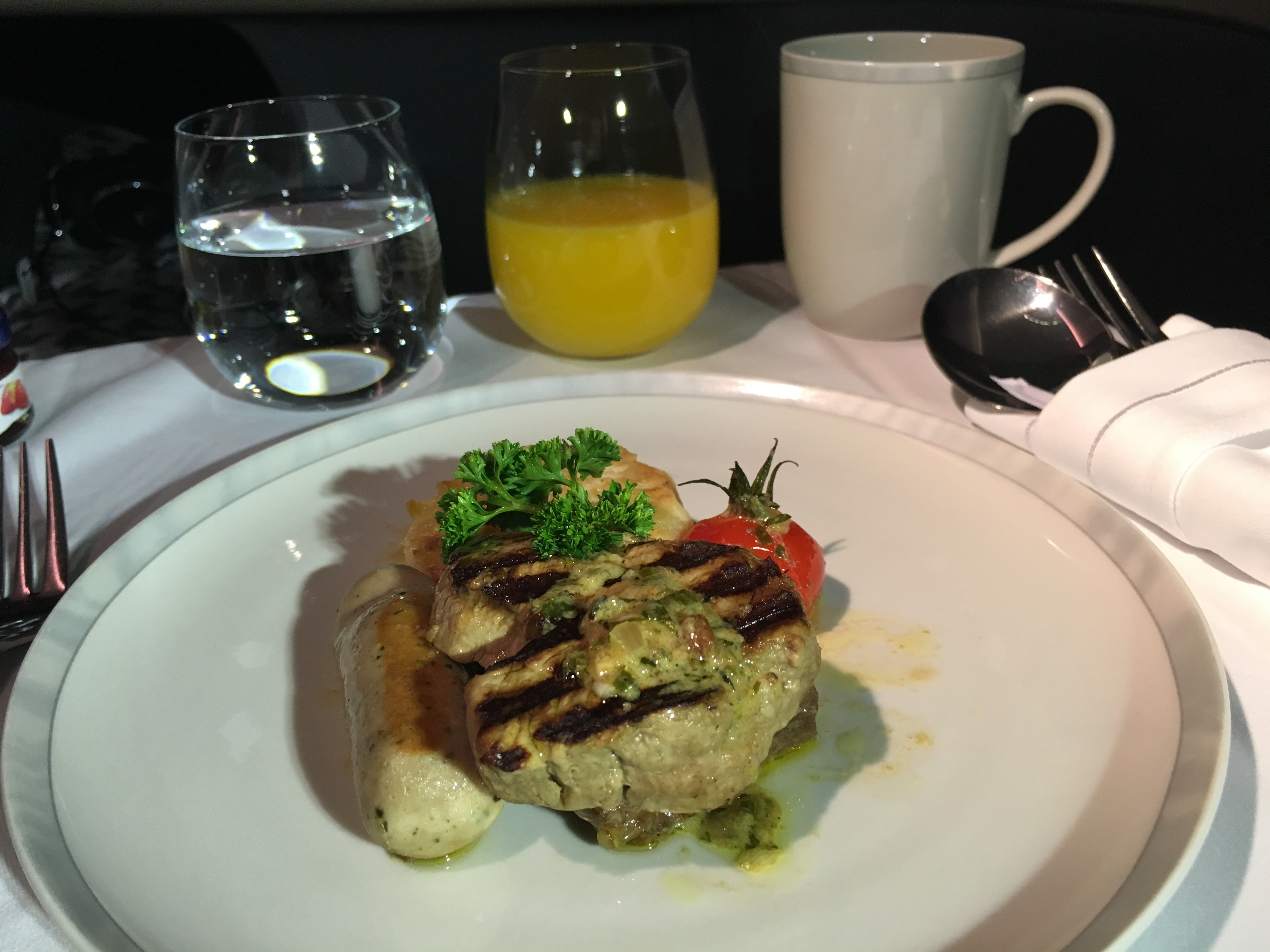 SIA Business Class Breakfast