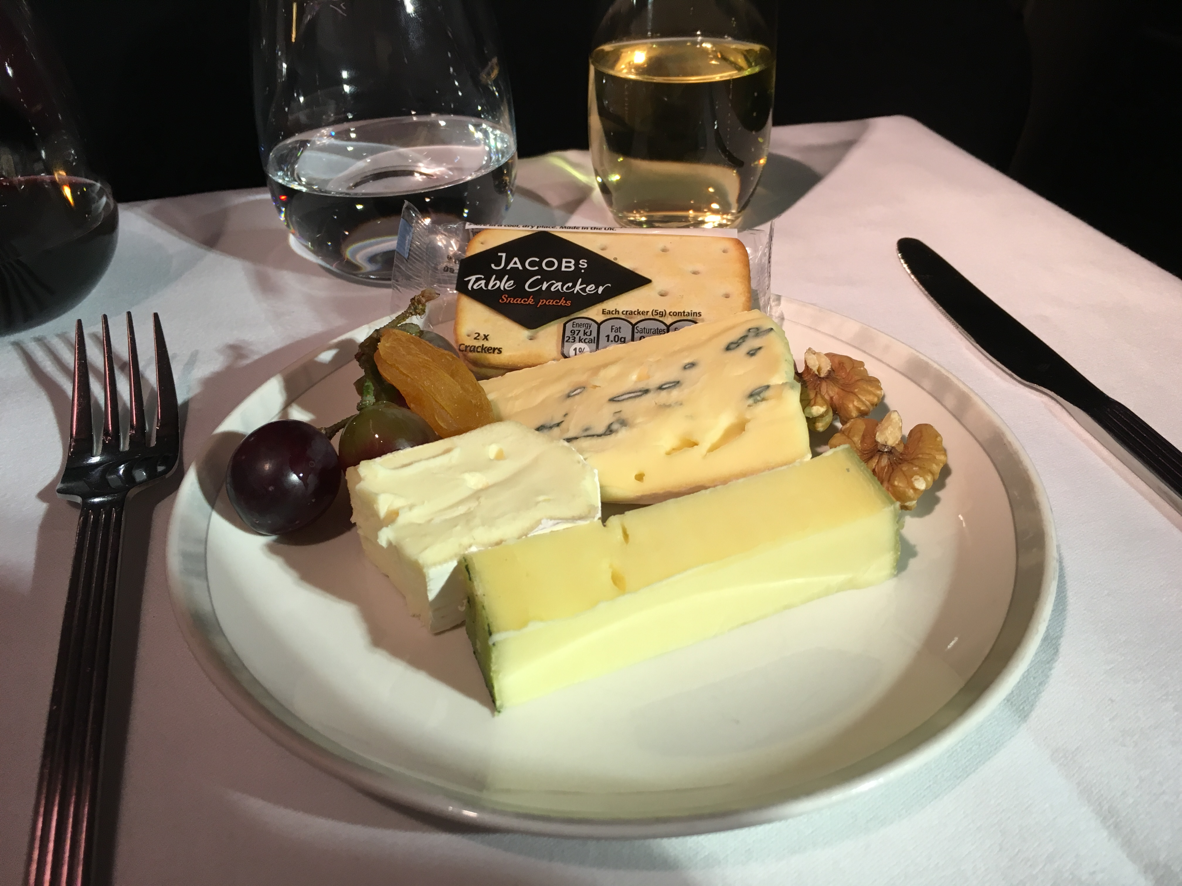 SIA Business Class Cheese