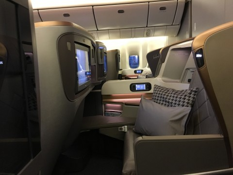 SIA Business Class Seat 1
