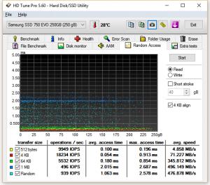 Samsung 750 EVO HDTuneRandom_Read