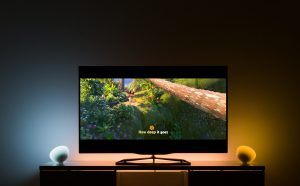 "Extract from Disney Moana ""How far I'll go"" by Auli'i Cravalho, in a tech showcase with new Philips Hue entertainment, synchronizing Philips Hue lights with entertainment content. Image (c) Disney Music"