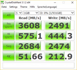 Samsung 970 CrystalDiskMark