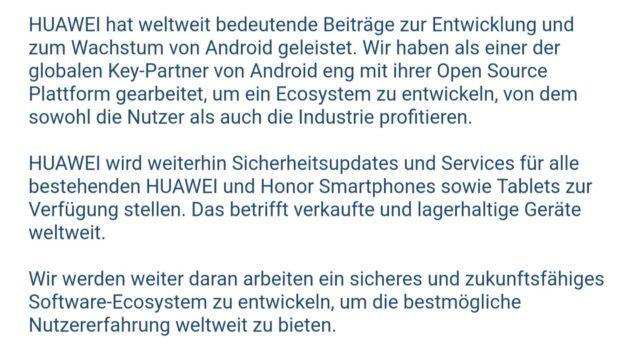 Huawei Statement HuaweBan