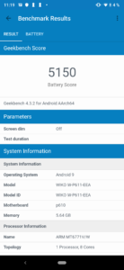 Wiko View3 Pro Geekbench 4 Battery 1
