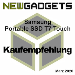 Samsung Portable SSD T7 Touch Award
