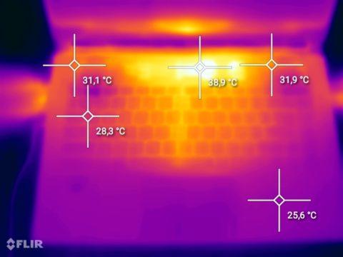 MSI Stealth 15M - Wärmebild 1