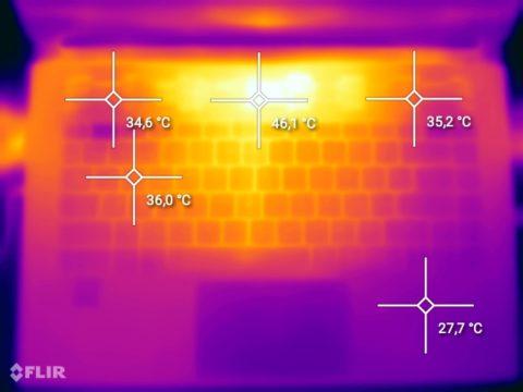 MSI Stealth 15M - Wärmebild 2
